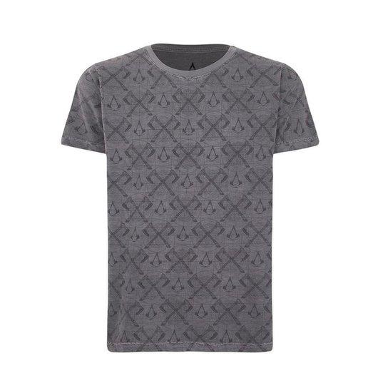 Camiseta Assassin's Creed Valhalla Masculina - Cinza