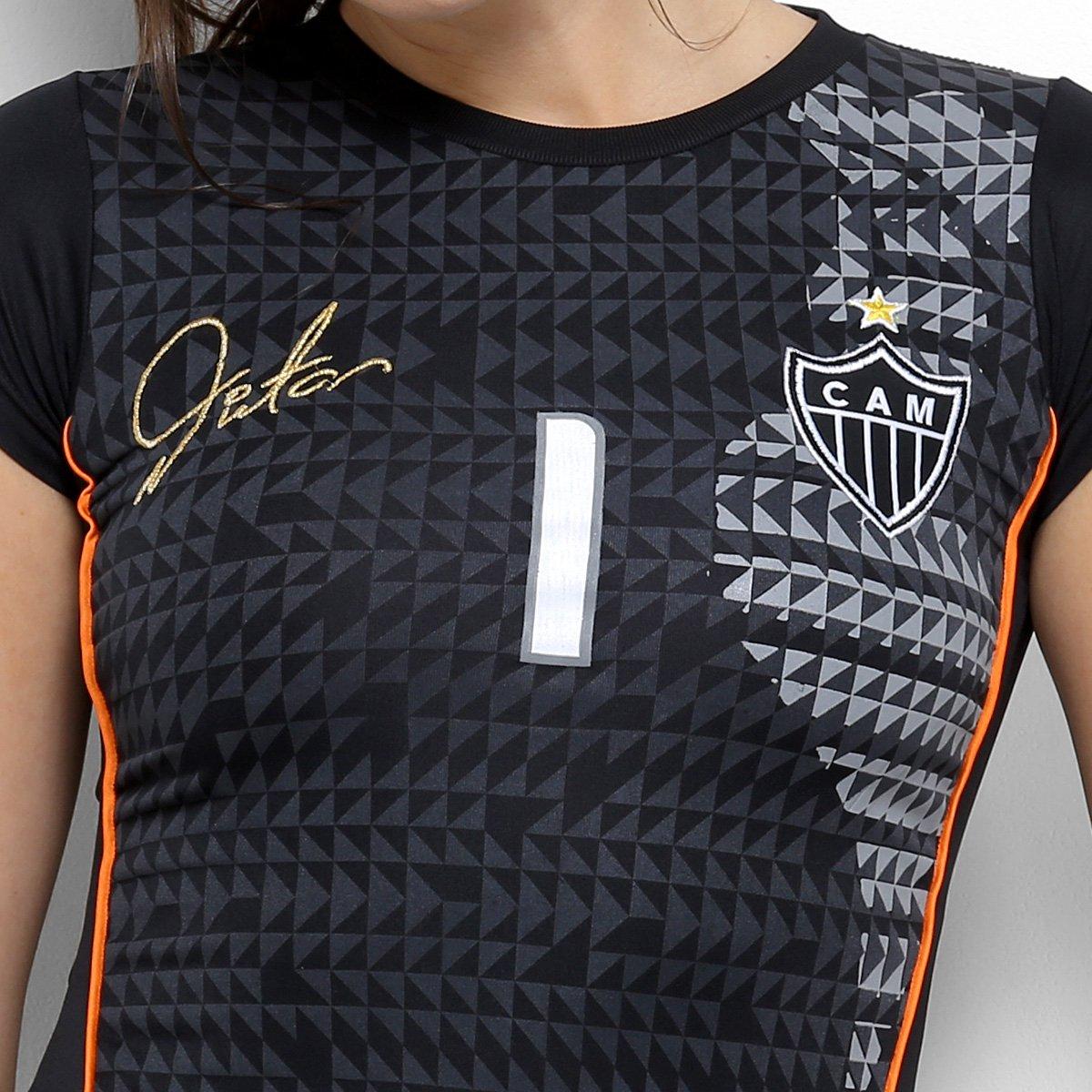 Camiseta Atlético-MG One Feminina - Preto e Laranja - Compre Agora ... fcd8bdc2f0fe4