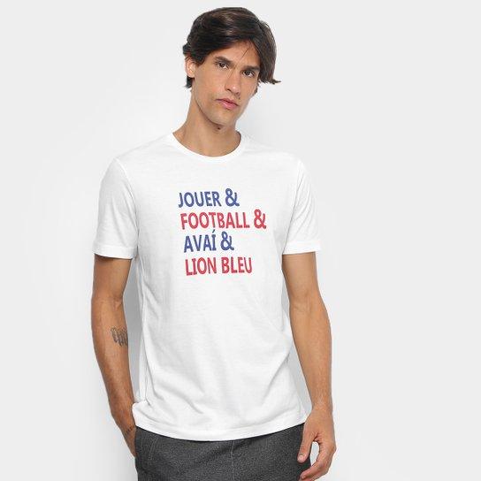 Camiseta Avaí Lettering Umbro Masculina - Off White