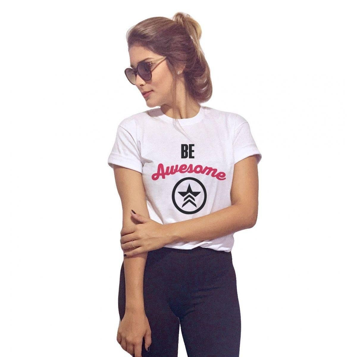 0c0b9f78b6 Look Camiseta Awesome Be Awesome Baby Baby Be Camiseta Branco Look Baby  Camiseta Branco Look Be ...