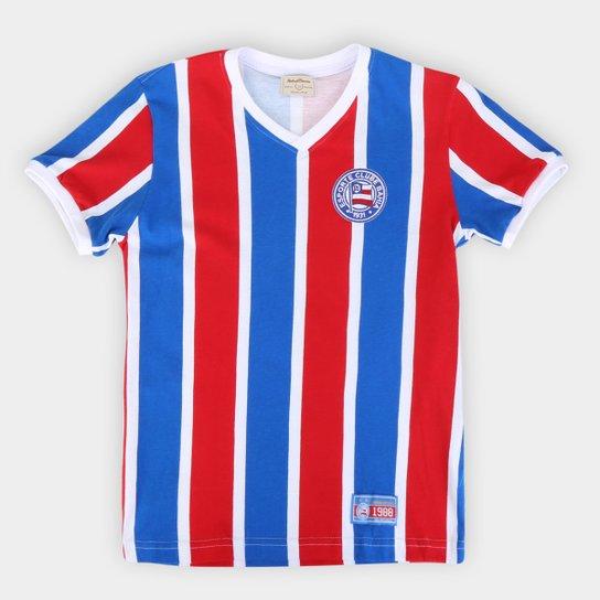 Camiseta Bahia Juvenil Retrô 1988 - Azul+Vermelho