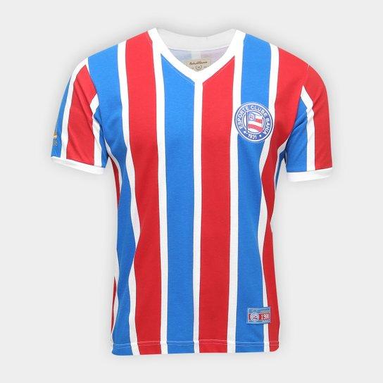 Camiseta Bahia Retrô 1988 Masculina - Azul+Vermelho