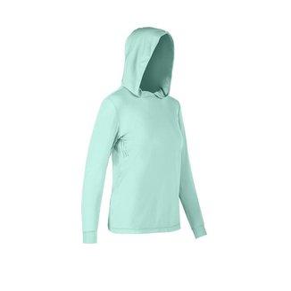Camiseta Ballyhoo  feminina com capuz fator de proteção solar  50  UPF