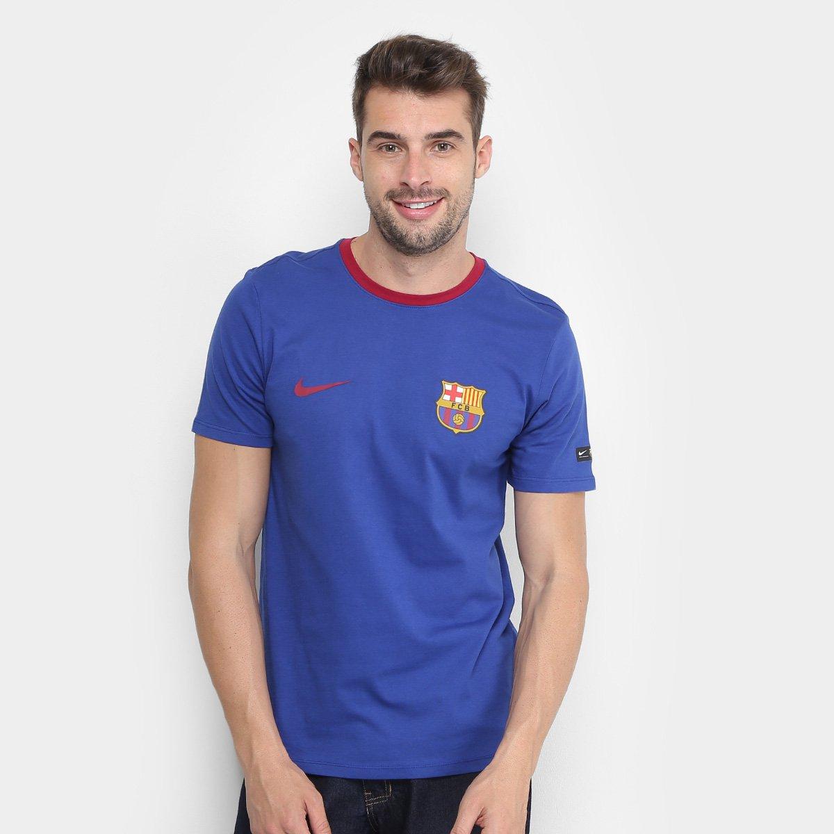 Camiseta Barcelona Crest Nike Masculina - Compre Agora  3c4e9be418ead