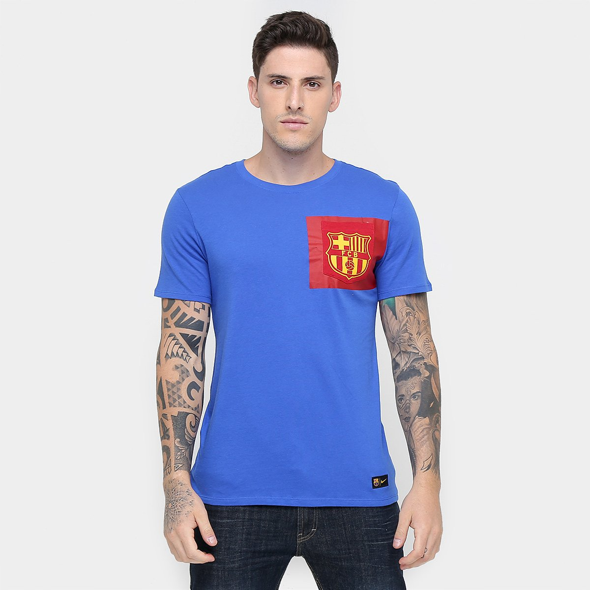 Camiseta Barcelona Nike Masculina - Compre Agora  93efc502f1cb2