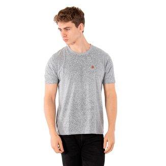 Camiseta Básica Masculina Com Aplique No Stress - CINZA - GG