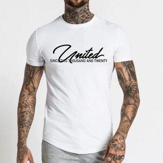 Camiseta básica United Algodão Longline Oversize Assinatura  - Branco - GG