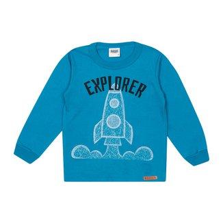 Camiseta Bebê Duzizo Explorer Manga Longa Masculina