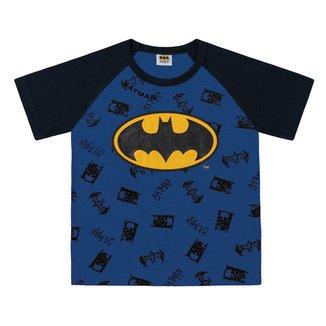 Camiseta Bebê Fakini Batman Masculina