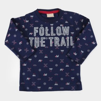 Camiseta Bebê Milon Fallow The Trail Manga Longa Masculina