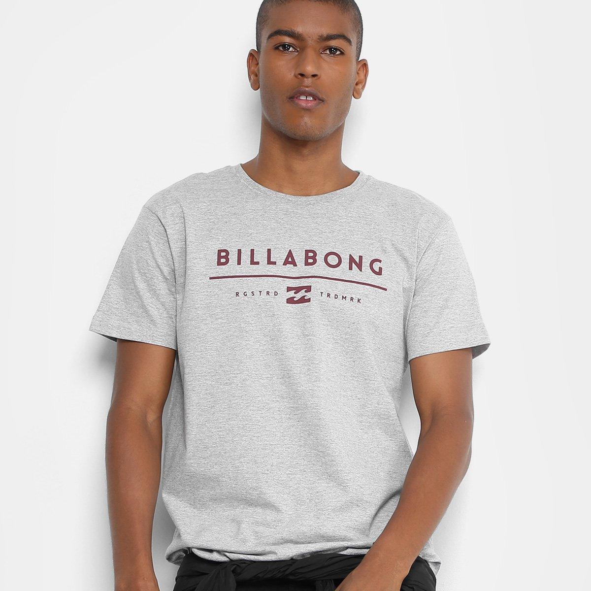 8c9d354c8d Camiseta Billabong Unity Masculina - Cinza - Compre Agora