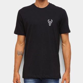 Camiseta Black Pack NBA Milwaukee Bucks New Era Logo Milbuc Masculina