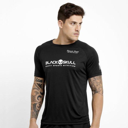 Camiseta Black Skull Dry Fit - Preto