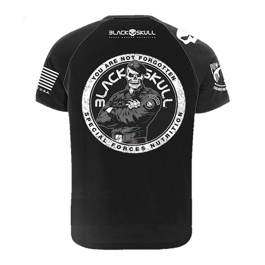Camiseta BOPE Algodão Infantil Preta Tamanho 04 - Black Skull -