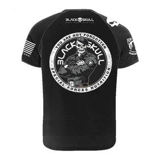 Camiseta BOPE Algodão Infantil Preta Tamanho 06 - Black Skull