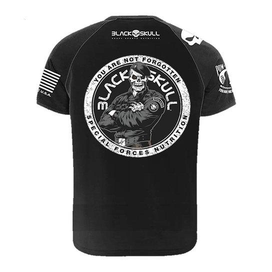 Camiseta BOPE Algodão Infantil Preta Tamanho 06 - Black Skull -