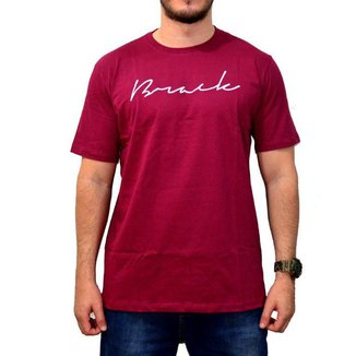 Camiseta Brack Script Bordô