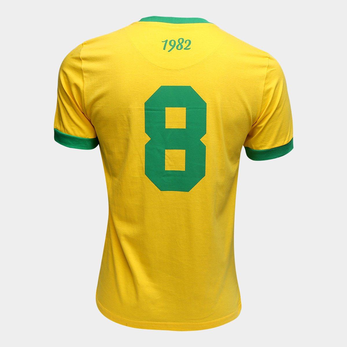 Camiseta Brasil 1982 Retrô Times Masculina - Amarelo - Compre Agora ... ad827742b5bd6
