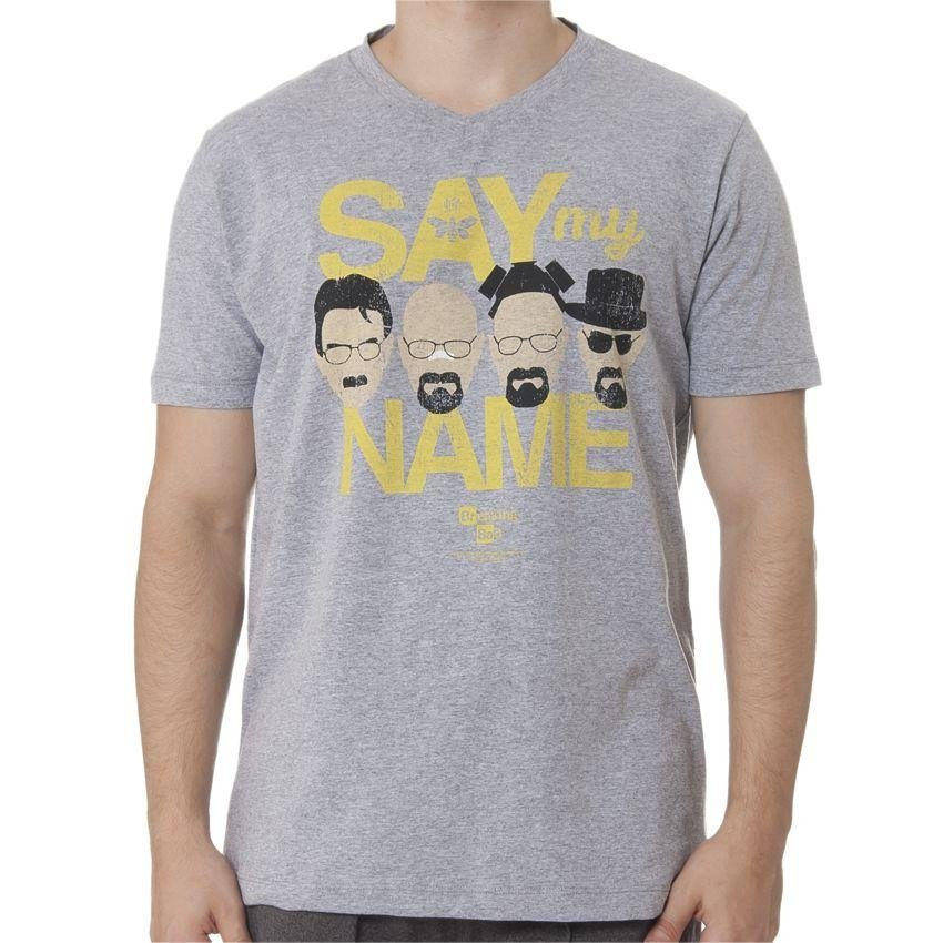 Breaking Bad Say my Bad Cinza Breaking Name Say Cinza Camiseta Camiseta Breaking my Camiseta Name qnqUvZS