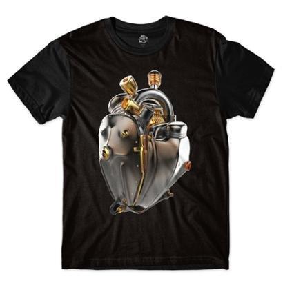 Camiseta BSC Coração de Máquina Motor Bronze Sublimada Masculina