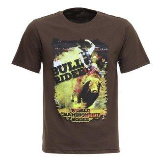 Camiseta Bull Rider Texas Diamon Masculina