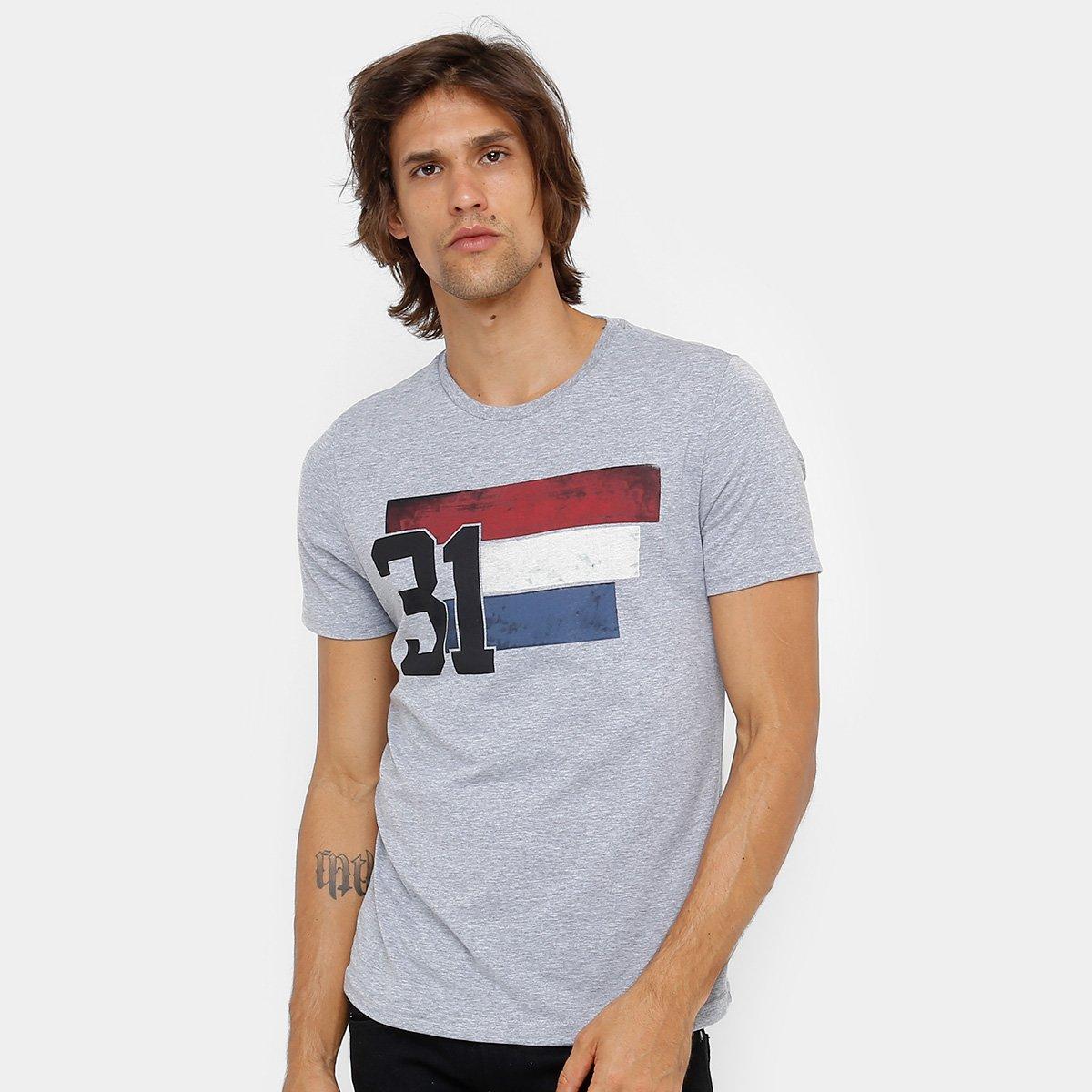 Camiseta Burn Estampa França Masculina - Compre Agora   Netshoes 334495f7c3