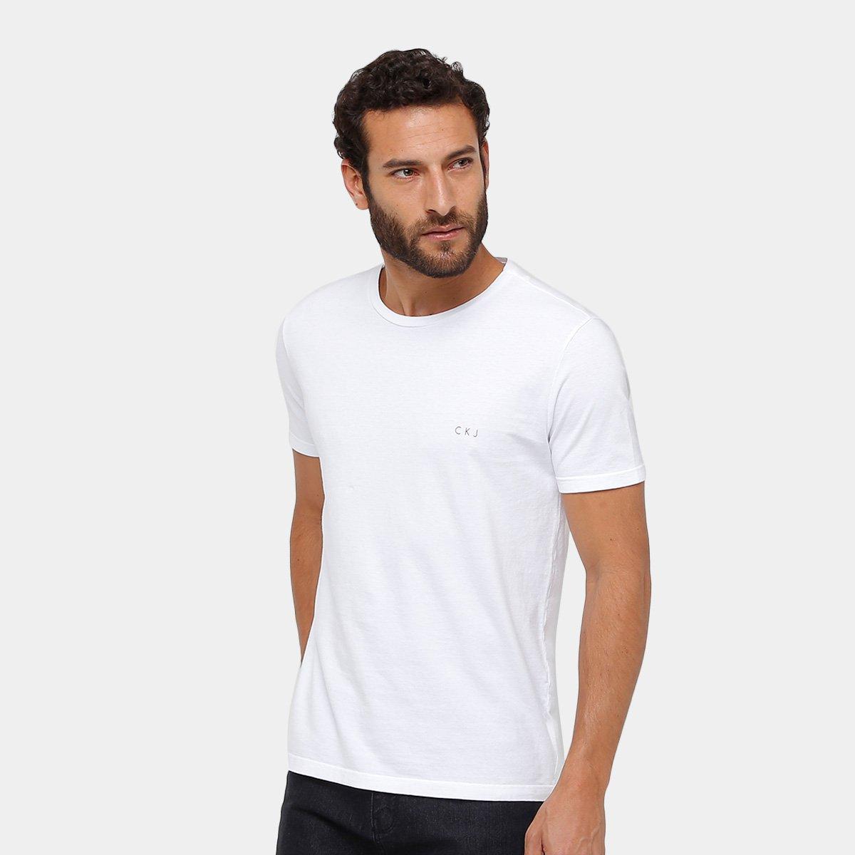 Camiseta Calvin Klein Básica CK Masculina - Compre Agora  0ceff7496ad