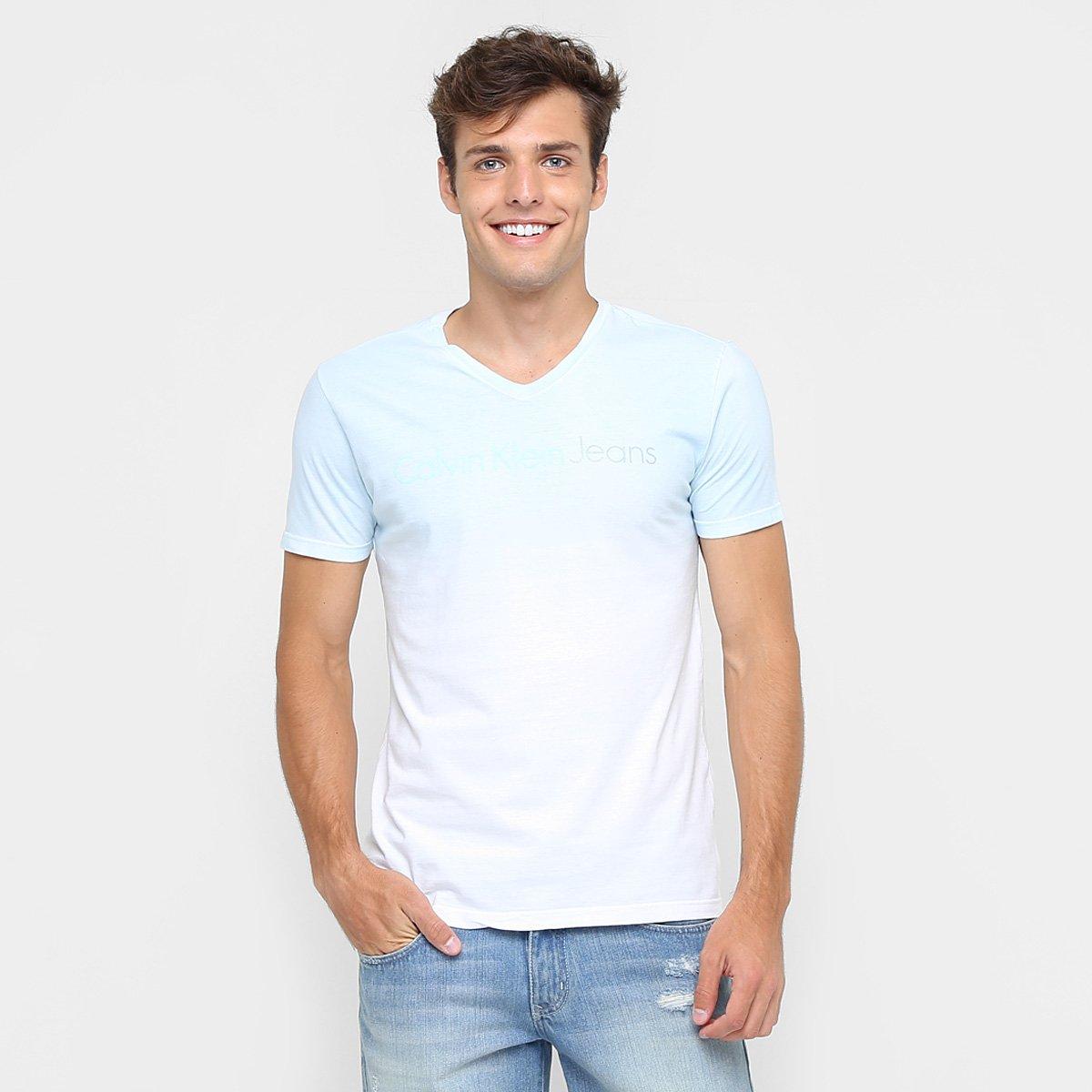640f0dd6e30e4 Camiseta Calvin Klein Degradê - Compre Agora