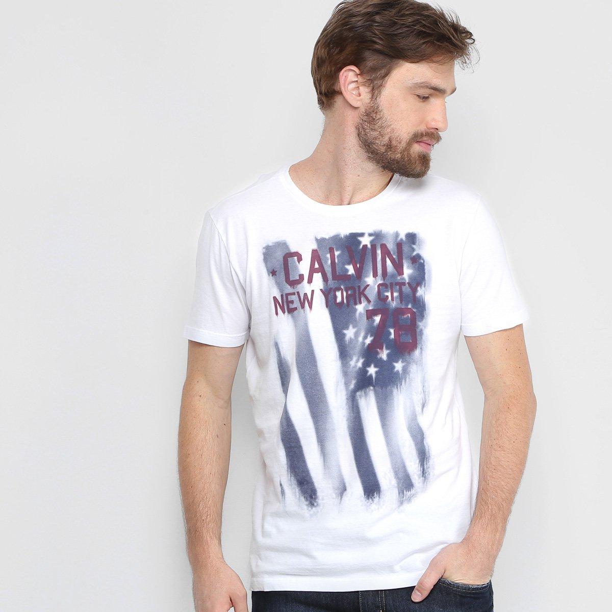 Camiseta Calvin Klein Estampada Masculina - Compre Agora  6450a07c8fd