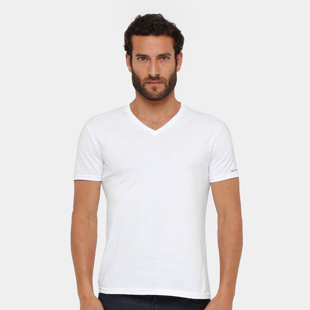 95030a29a5 Camiseta Calvin Klein Gola V Cavada Masculina - Compre Agora