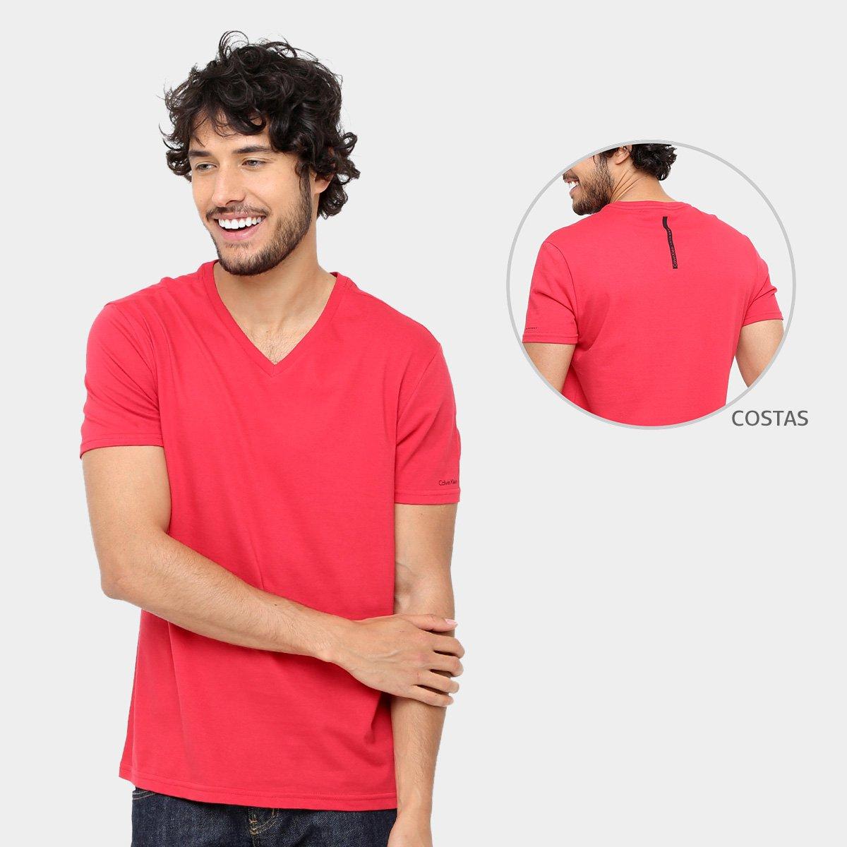 82b39943133fa Camiseta Calvin Klein Gola V Cavada Masculina - Compre Agora