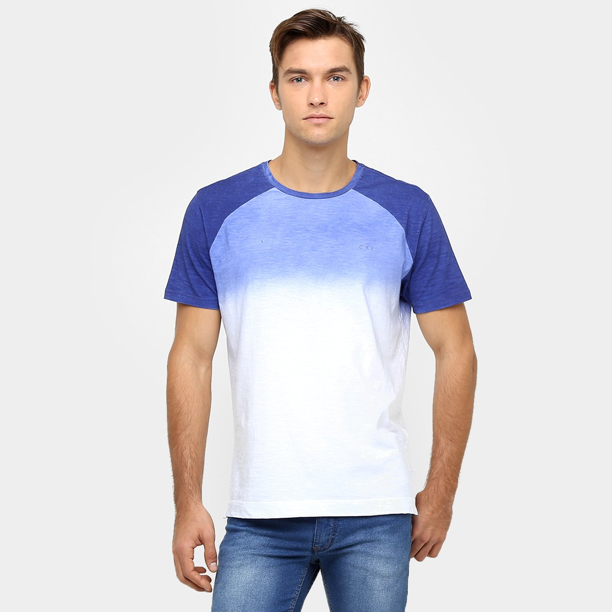 f8f1d053ad671 Camiseta Calvin Klein Raglan Jateado Degradê - Compre Agora