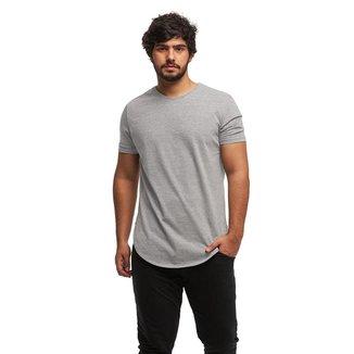 Camiseta Camisa Blusa Longline Oversized Mc-Rosa Salmão-P