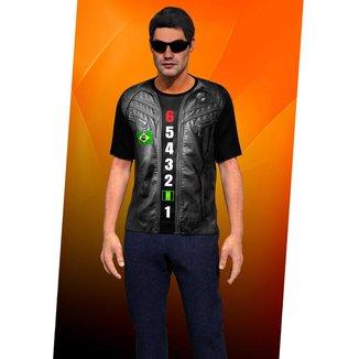 Camiseta Camisa Colete De Couro Motoclube Blusa 0001