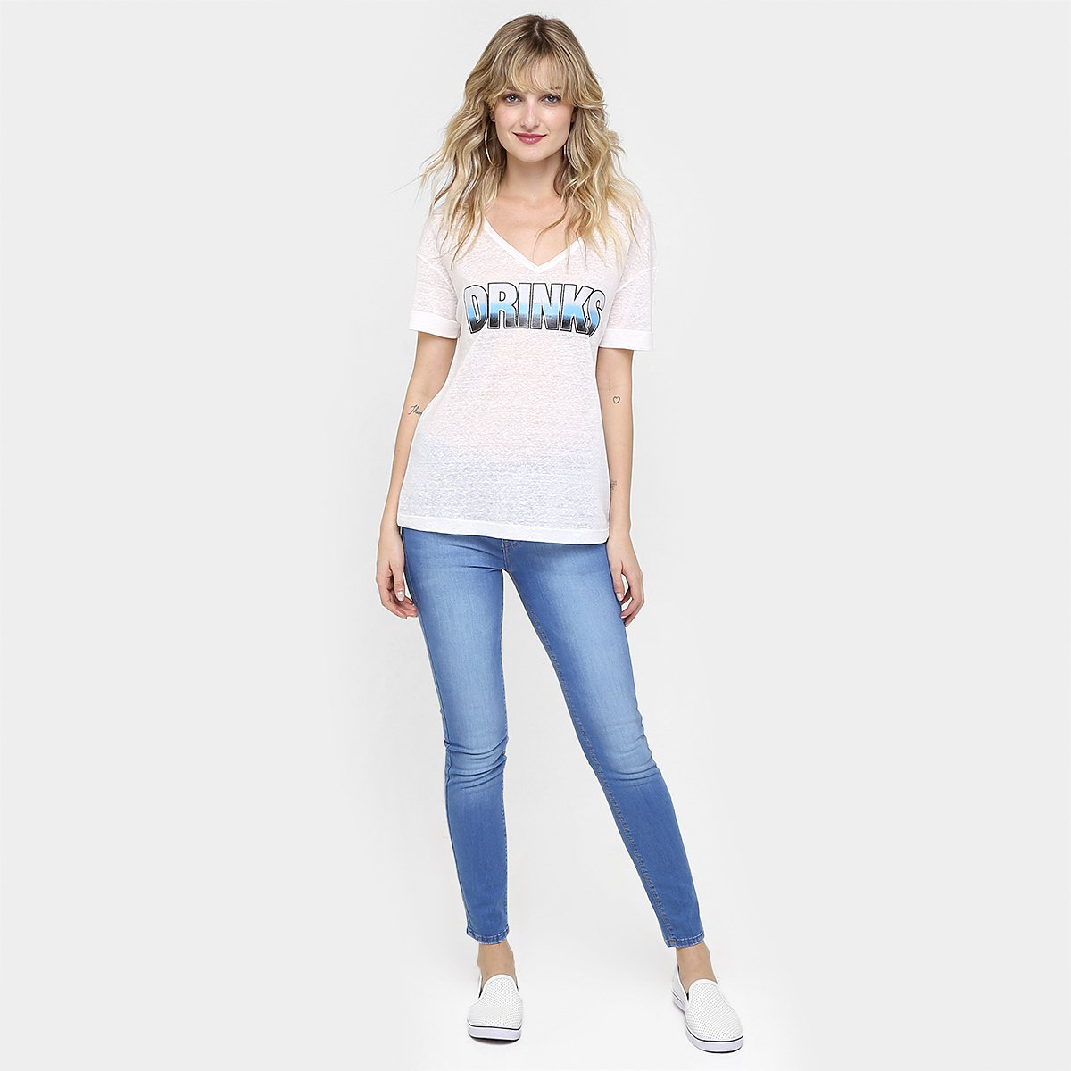 Canal White Canal Camiseta Off Off White Drinks Camiseta Drinks d6Xw55qx
