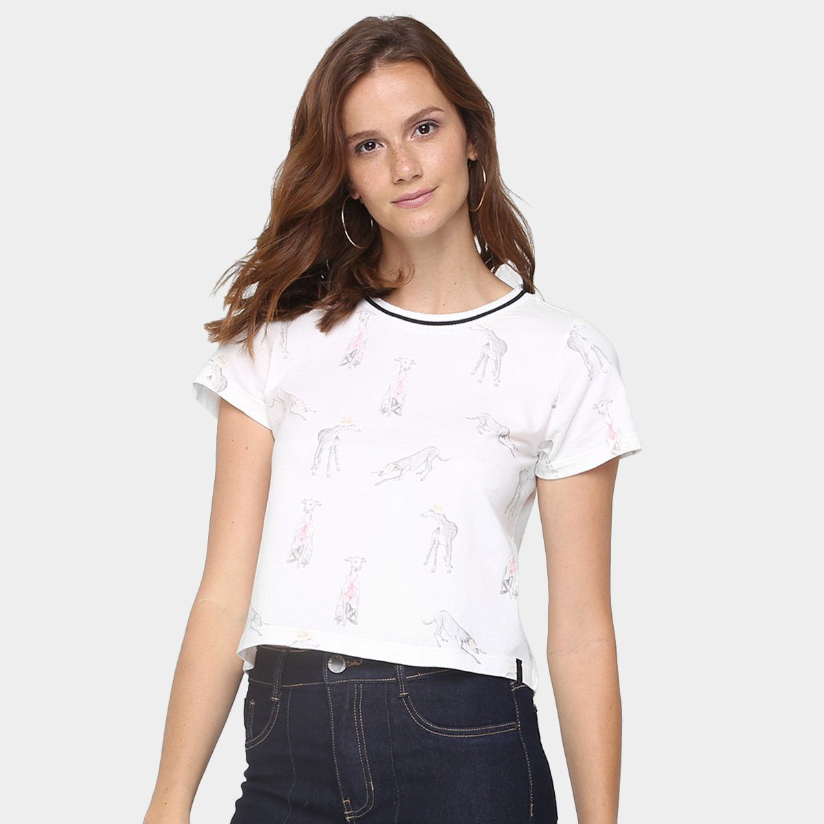 Cantão Cachorro Cantão Off Cropped Camiseta Cantão Camiseta Off White Camiseta Cropped White Cachorro gxqpI8w8