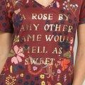 Camiseta Cantão Estampada Silk Feminina