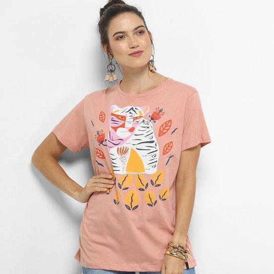 Camiseta Cantão Tigresa Feminina - Rosa