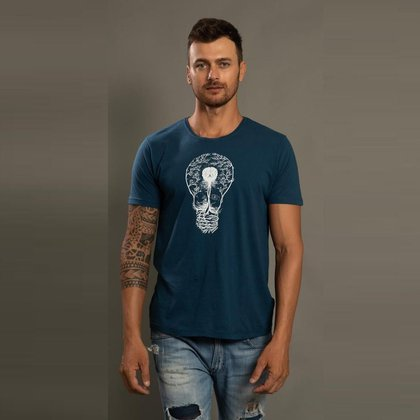 Camiseta Casual Masculina Estampa Light Conforto Estilo