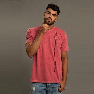 Camiseta Casual Masculina Estampada Risk Conforto