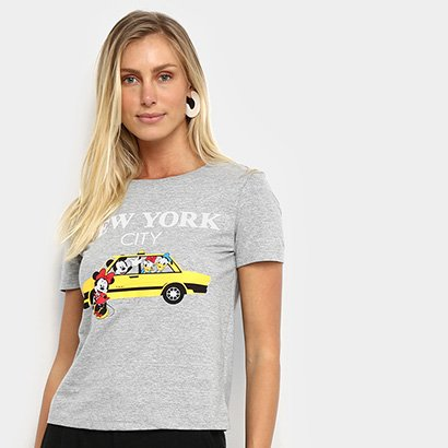 Camiseta Cativa Disney Taxi Feminina