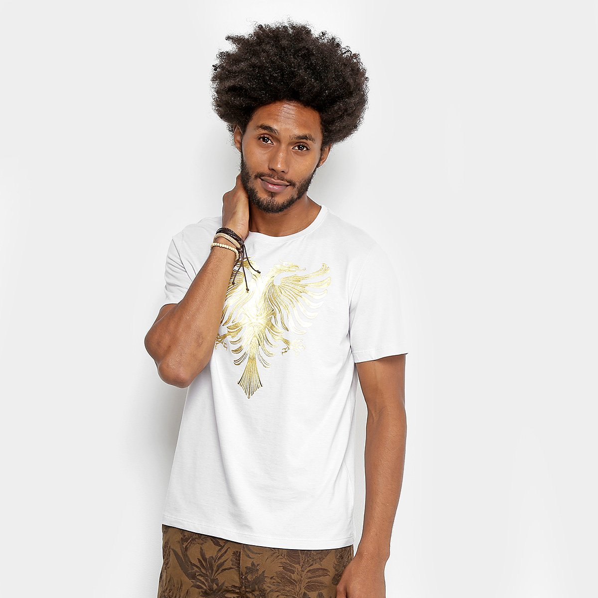 c3c0f10b1 Camiseta Cavalera Foil Relevo Águia Masculina - Compre Agora
