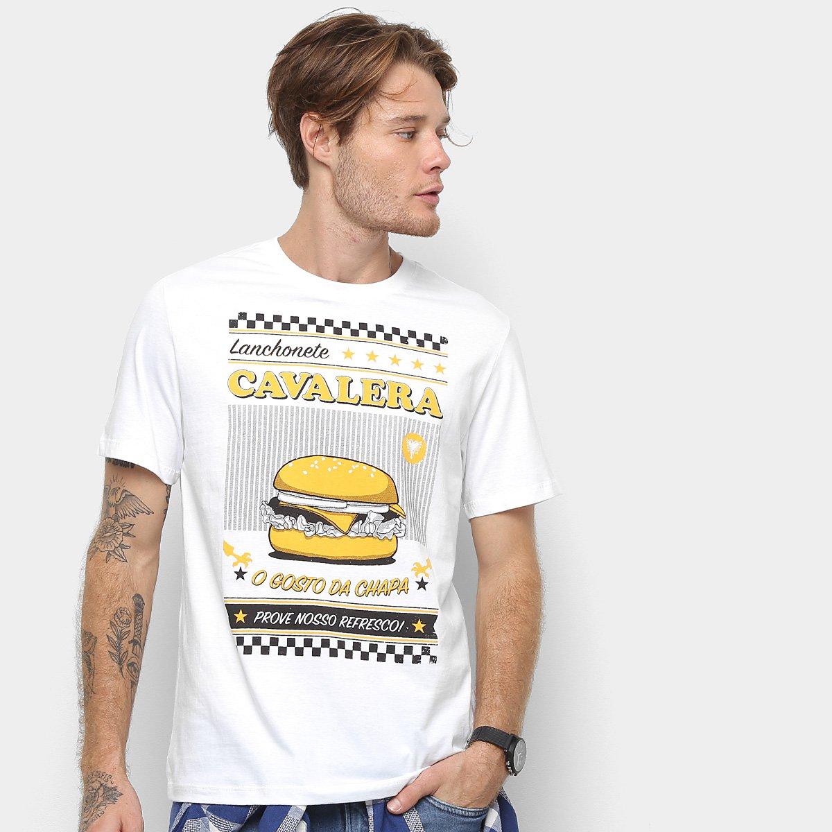 114c0bb57d Camiseta Cavalera Hamburguer Masculina - Branco - Compre Agora ...