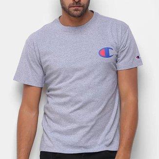 Camiseta Champion Logo C Ink Cinza Mescla