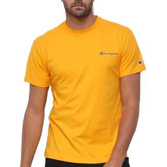 Camiseta Champion Logo Mini Script Amarelo Gold