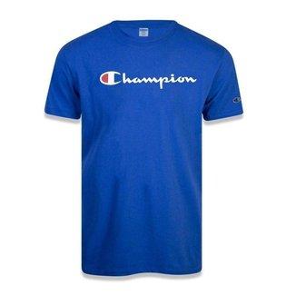 Camiseta Champion Malhão Script Patch Logo Masculina - Preto - 2GG
