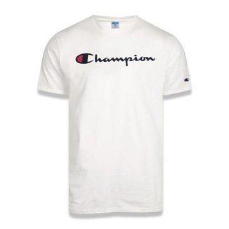 Camiseta Champion Malhão Script Patch Logo Masculina - Rosa - GG
