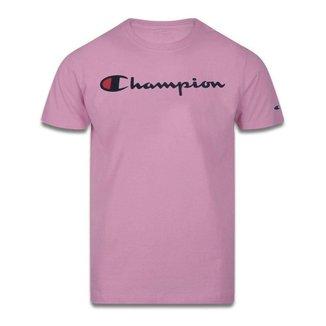 Camiseta Champion Script Logo Print Masculina - Off White - G