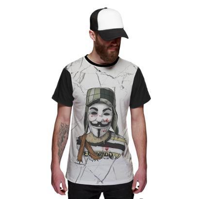 Camiseta Chaves Vendetta V de Vingança Masculina - Masculino