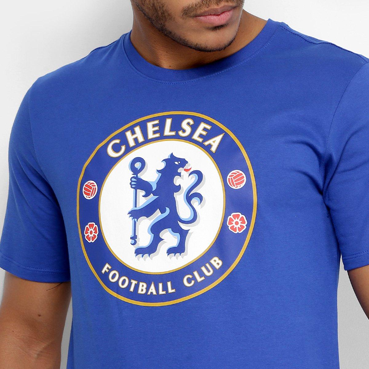 Camiseta Chelsea Evergreen Crest Nike Masculina - Compre Agora ... b941faf4952aa